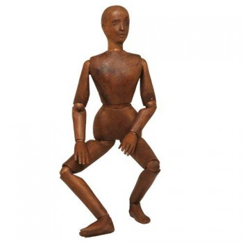 105antique wooden mannequin