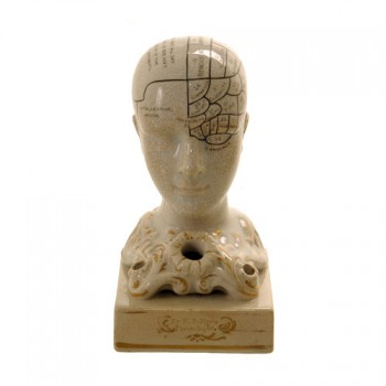 Phrenology head inkwell - van Leest Antiques  (1)