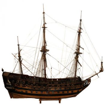 VOC East Indiaman ship model - van Leest Antiques (1.1)