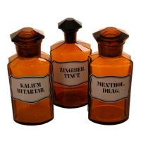 Pharmacy bottles belgium - Van Leest Antiques (1)