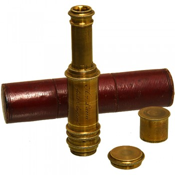 H. van Laun achromatic brass pocket telescope - van Leest Antiquesjpg (2)