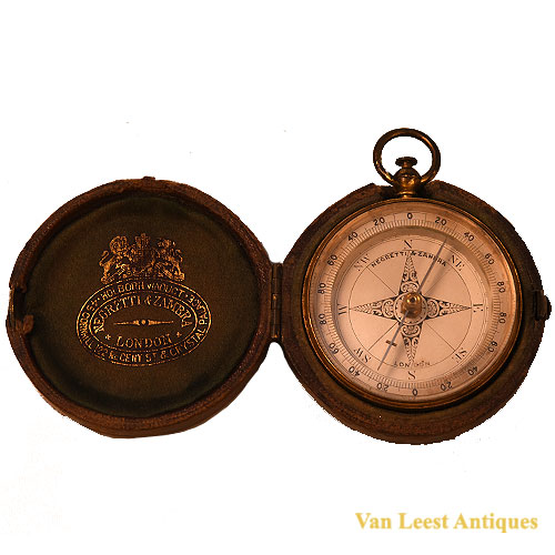 Necretti Zambra compass in case - van Leest Antiques (1)