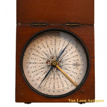 English compass wooden case - van Leest Antiques (2)