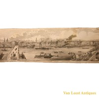 Grand panorama London Thames Azulay Thames Tunnel - Van Leest ANtiques (10)