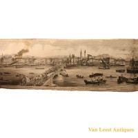 Grand panorama London Thames Azulay Thames Tunnel - Van Leest ANtiques (11)