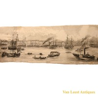 Grand panorama London Thames Azulay Thames Tunnel - Van Leest ANtiques (12)