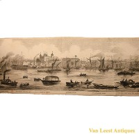 Grand panorama London Thames Azulay Thames Tunnel - Van Leest ANtiques (13)