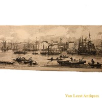 Grand panorama London Thames Azulay Thames Tunnel - Van Leest ANtiques (14)