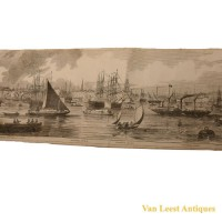 Grand panorama London Thames Azulay Thames Tunnel - Van Leest ANtiques (15)