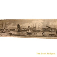 Grand panorama London Thames Azulay Thames Tunnel - Van Leest ANtiques (16)