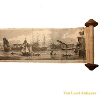 Grand panorama London Thames Azulay Thames Tunnel - Van Leest ANtiques (17)