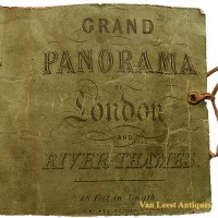 Grand panorama London Thames Azulay Thames Tunnel - Van Leest ANtiques (2)