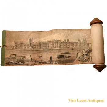 Grand panorama London Thames Azulay Thames Tunnel - Van Leest ANtiques (3)