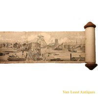 Grand panorama London Thames Azulay Thames Tunnel - Van Leest ANtiques (4)