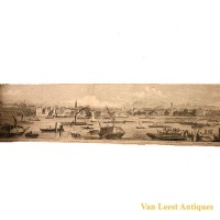 Grand panorama London Thames Azulay Thames Tunnel - Van Leest ANtiques (6)