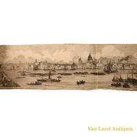 Grand panorama London Thames Azulay Thames Tunnel - Van Leest ANtiques (8)