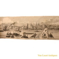 Grand panorama London Thames Azulay Thames Tunnel - Van Leest ANtiques (9)
