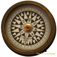 Floating Card compass nautical - van Leest Antiques (2)