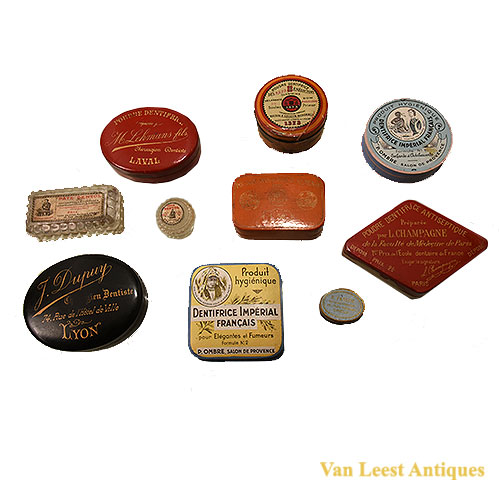 Dental tooth-paste boxes French - Van Leest Antiques (2)