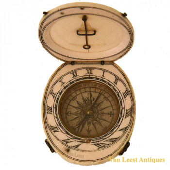 French Ivory Sundial 18C  - van Leest Antiques (1)