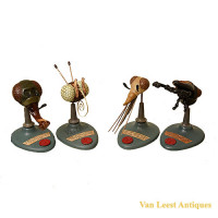 Anatomical insects set, containing 4 mouthpart models - van Leest Antiques